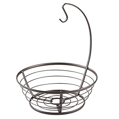 InterDesign Axis Fruit Tree Bowl with Banana Hanger for Kitchen Countertops - Bronze