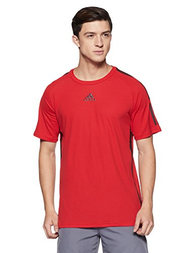 adidas Barricade tee Camiseta de Tenis, Hombre, Rojo (Escarl/borosc), L