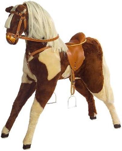 Kidsmax Größes Pferd Reitpferd Plüschpferd Lizzy mit Sattel und Zaum