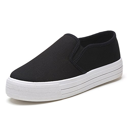 Zapatillas Deportivas De Mujer Zapatos de Plataforma Slip On Botines Moda Plana...