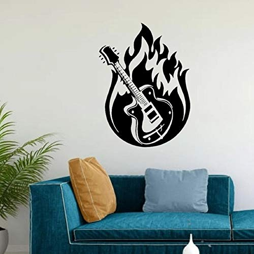 Guitarra Música Decoración Música Vinilo Música Etiqueta de la pared