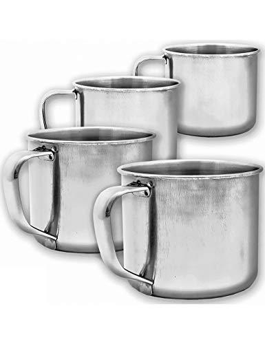 Outdoor Saxx® - 4 vasos rústicos de café para exteriores, vasos de...