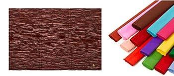 Premium Italian Crepe Paper Roll Heavy-Weight 180 Gram - 568 Brown Suede