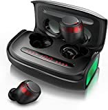 Wireless Earbuds, Bluetooth Earphones 5.0 with Noise Cancellation, IPX7 Waterproof, Qualcomm Tech Stereo in Ear Headphone, TWS Built-in Mic Headset with 150H Playtime.