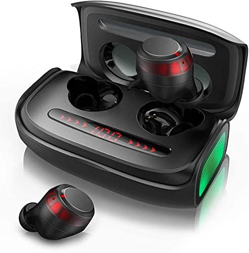 Bluetooth Kopfhörer In-Ear, Votomy Kopfhörer Kabellos Qualcomm Bluetooth 5.0 mit Stereoklang HD Anruf, 150 Stunden Spielzeit, 2500mAh Powerbank, IPX7 Wasserdicht, LED-Display für iPhone und Android