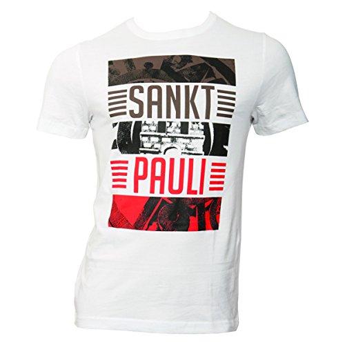 FC St. Pauli T-Shirt Balken Sankt Pauli weiß (L)