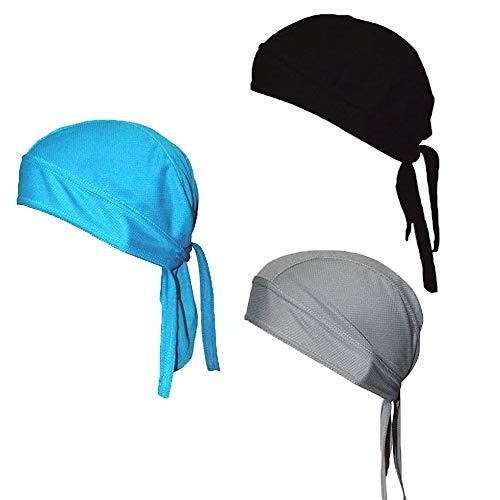 KKSJK Turbante para Deportes al Aire Libre de 3 Piezas, pañuelo de Ciclismo Transpirable de Secado rápido, Casco Protector de Verano UV, Gorra de Ciclismo para Hombres y Mujeres