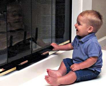 Fireplace Door Lock from Safe Beginnings