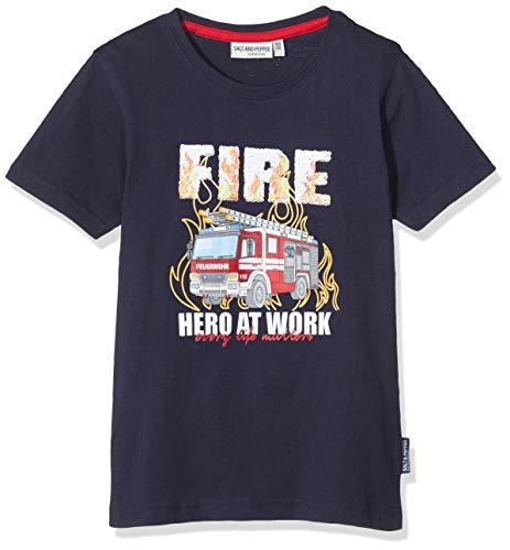 Salt & Pepper Jungen 03112139 T-Shirt, Blau (Navy 498), (Herstellergröße: 104/110)