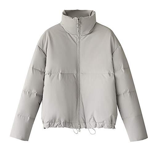 Korte dikke donsjack, dames Stand kraag broodje pak witte eend naar beneden eenvoudige jas-S