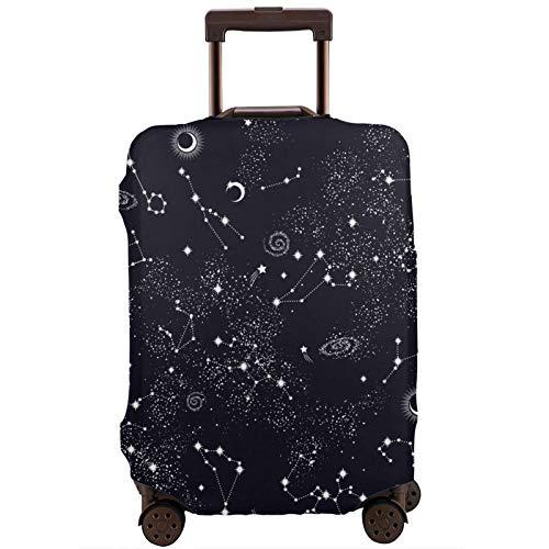 Teery-YY Moon Space Planet Stars Galaxy Universe - Funda protectora para equipaje de viaje (18-32 pulgadas, con cremallera, lavable, elástica, para adolescentes, niños, niñas, hombres y mujeres