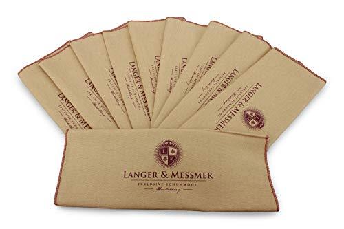 Langer & Messmer Baumwolltuch im 10er-Set beige