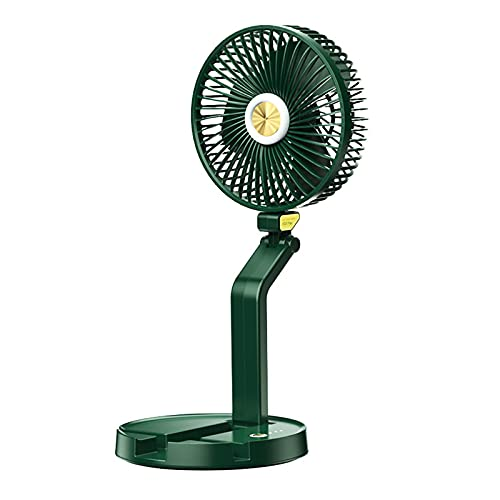 ACEMIC Ventilador Silencioso Ventilador De Mesa,Ventilador USB Portatil Ventilador De Circulación De Aire LED 30 Decibelios Ultra Silencioso 3 Velocidades Circulación del Aire para,Verde
