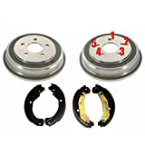 Customized 2 5 Lug Rear Brake Drums Shoes 3pc Kit compatible with 06-08 HHR Cobalt G5