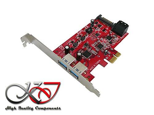 KALEA-INFORMATIQUE Karte Controller PCIe USB 3.0(2Ports) und SATA 3.0(2Ports)–Professionelle/Komponenten, hochwertig–Treiber vorinstallierten für Windows/Mac/Linux.
