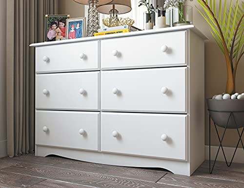 Palace Imports 100% Solid Wood Dresser, White. Requires Assembly