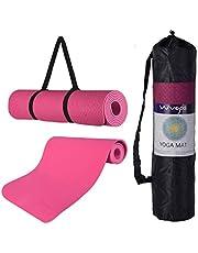 Wueps Esterilla Deporte, Yoga, Pilates, Ejercicios, incluye correa de hombro y bolsa de transporte, ideal para realizar deporte en casa, yoga mat, esterilla yoga antideslizante, TPE ecologico