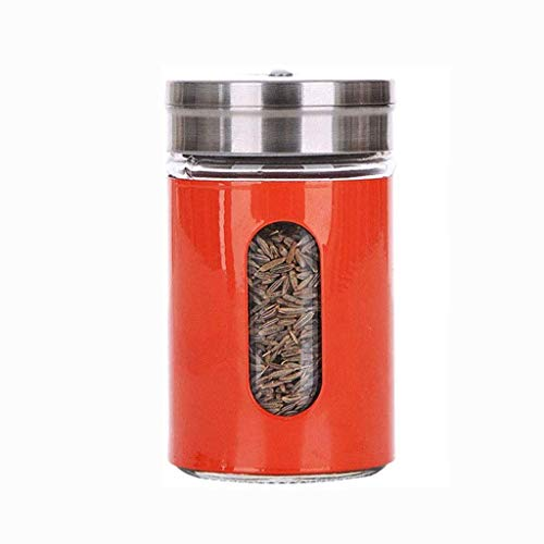 Manyao di alta qualità Rosso condimento Bottiglia, Rotary Seal-prova di umidità vetro salsa bottiglia esterna Barbecue condimento Bottiglia