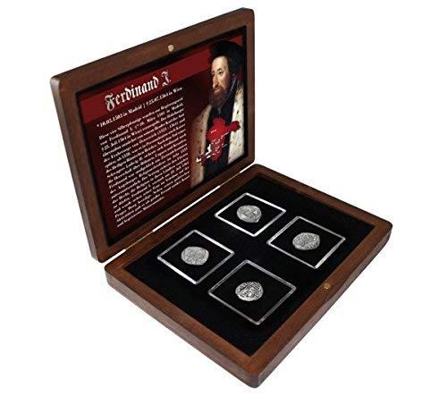 IMPACTO COLECCIONABLES Fernando I. Colección de 4 Monedas de Plata del Hijo de Felipe el hemoso y Juana la Loca