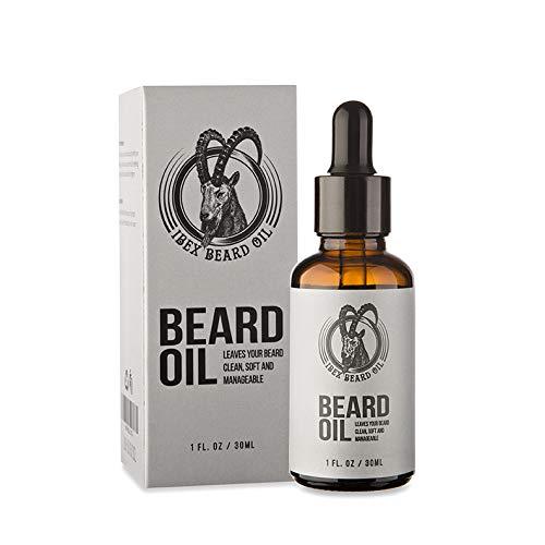 Skäggolja för män, 30 ml doftfri skäggolja för män av Ibex, perfekt för att mjuka skägg och förhindra skäggmjäll. Mjukar ditt skägg med regelbunden användning eller pengarna tillbaka.