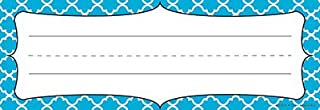 Renewing Minds Isabella Nameplates, 9-1/4 x 2-1/2 Inches, Blue Quatrefoil, Pack of 36