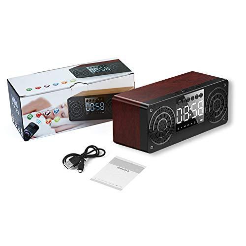 ZMZ Reloj Despertador Digital, Altavoz Bluetooth, Sonido Estéreo TWS, BT 5.0 para Hogar, Aire Libre, Viaje