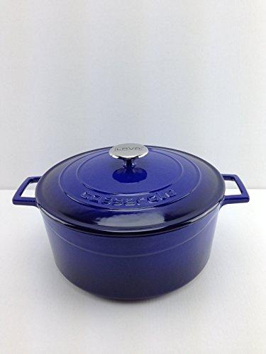 CASSEROLE ROND LVYTC28K1B - Caja (280 mm, 6,70 L), color azul y negro