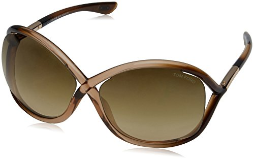 Tom Ford Damen FT0009 74F 64 Sonnenbrille, Pink (Rosa/Altro/Marrone Grad)