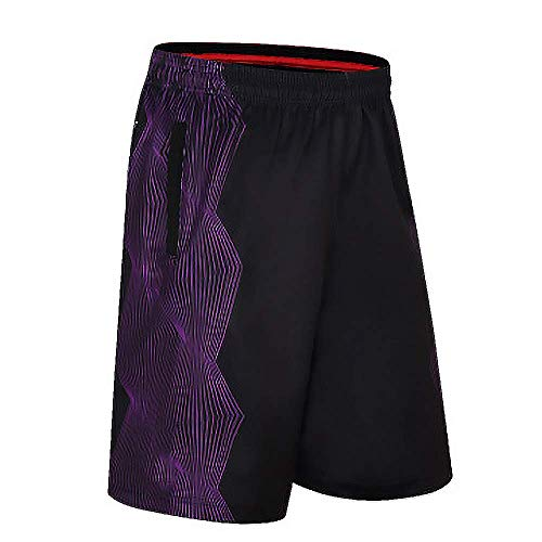 Sodhue Herren Lose und Schnell Trocknende Shorts Leichte und Atmungsaktive Casual Shorts mit Taschen Basketball Shorts Trainingsshorts für Fitness Radfahren Laufen