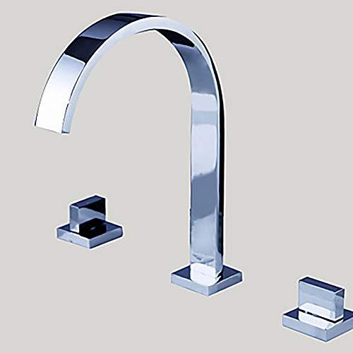 LG Snow Moderne Silber Schöne Waschbecken Wasserhahn - Wasserfall Chrom DREI-Loch/Zwei-Griff DREI-Loch Bad Wasserhahn