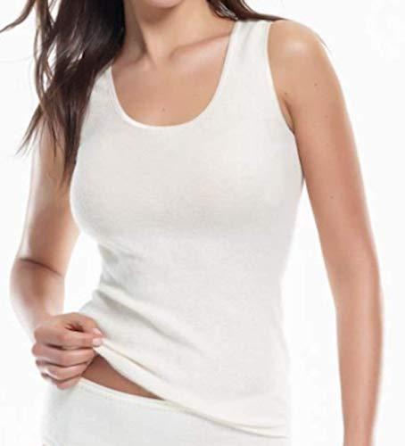 Medima Damen Unterhemd 20% Angora S weiß