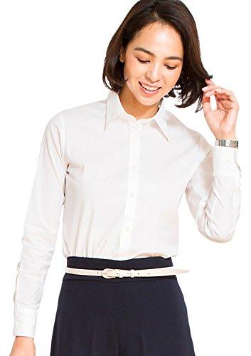 Leonis Pflegeleichte Damen Langarm-Bluse in klassischer Passform in Premium-Stretch-Qualität White (Größe 40) [ 42024 ]
