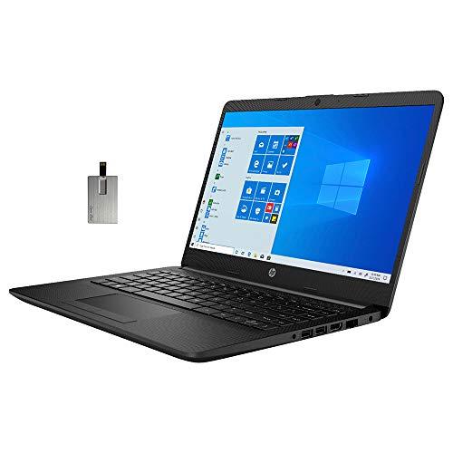 "2021 HP 14"" HD Laptop Computer, 3rd Gen AMD Ryzen 3-3250U Processor, 8GB RAM, 1TB HDD, AMD Radeon Graphics, HD Audio, Webcam, USB-C, HDMI, Bluetooth, Windows 10 S, Jet Black, 32GB SnowBell USB Card"