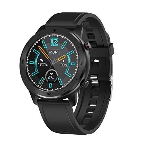 ZHENAO Smart Watch 1.3 Pantalla Táctil de Círculo Completo, Movimiento de Marcación Múltiple, Recordatorio de Llamadas, Ip68 Impermeable Desgaste diario/Black/Glue