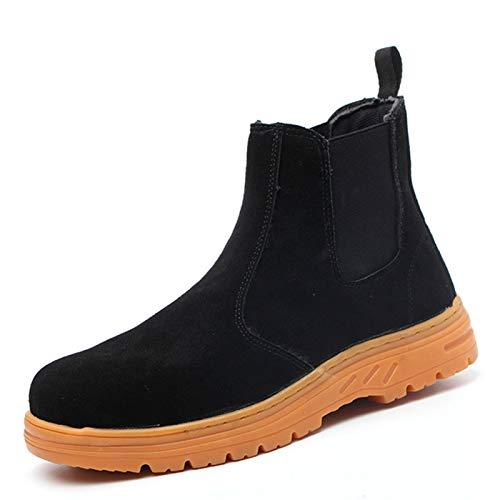 Zapatos de Seguridad para Hombres de Acero con Puntera Mujer Zapatillas de Seguridad Trabajo Deportivas Ligeras e Industriales (Color : Black, Size : 46)