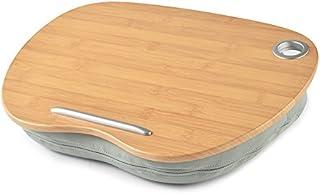 膝上テーブル ノートパソコン タブレット 用 デスク 枕 (グレー)