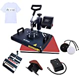 Bettersub Heat Press Machine Industrial-Quality Multifunction Hat/Mug/Plate/Cap/T-Shirt Combo 12X15 Swing Away 5in1 CE