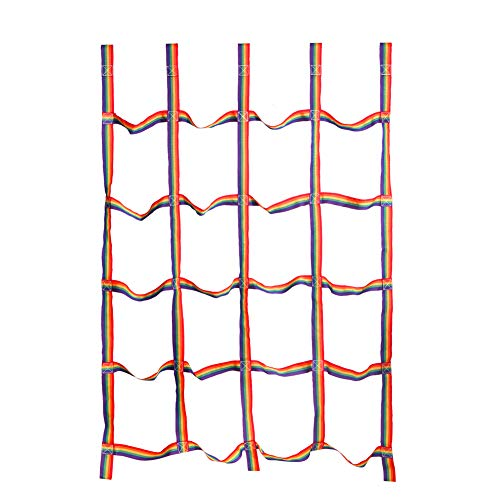 letsgood Colorful Climbing Cargo Net, Outdoor Backyard Play Sets & Playground Equipment for Ninja Line, Jungle Gyms, Swing Set, Ninja Warrior Style Obstacle Courses