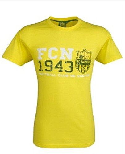FC Nantes - FCN 1943 - T-shirt - Homme - Jaune - FR: L (Taille Fabricant: L)