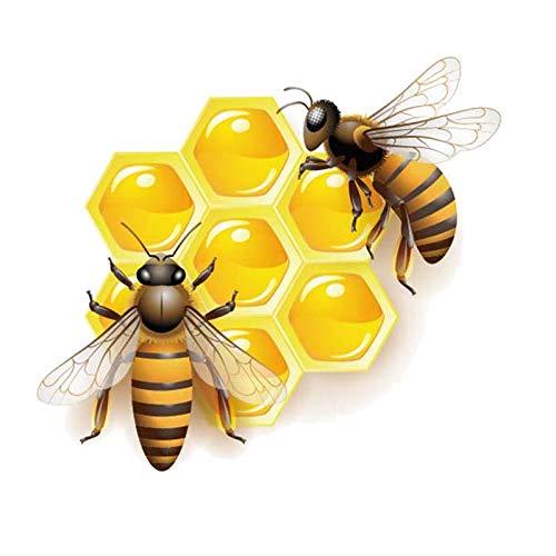 GQQ auto sticker 15.4Cm * 13.7Cm bijen die eten honing Pvc auto sticker beste kleine geschenken voor auto liefhebbers A