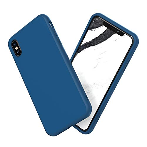 RhinoShield Case Compatible with [iPhone X] | SolidSuit - Shock Absorbent Slim Design Protective Cover with Premium Matte Finish [3.5M / 11ft Drop Protection] - Royal Blue