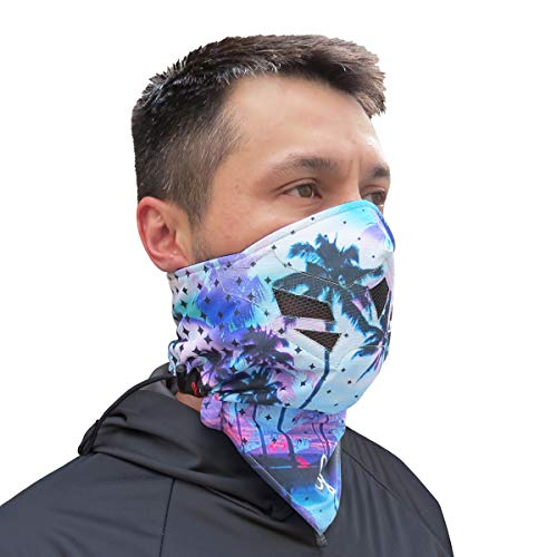 Grace Folly Half Face Mask for Cold Winter Weather. Use This Half Balaclava for Snowboarding, Ski, Motorcycle. (Many Colors) (Palm Beach)