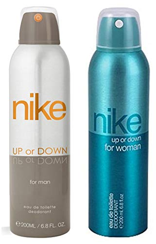 Nike Up Or Down Silver Deo For Men, 200ml And Nike Up Or Down Deodorant For Women, 200ml