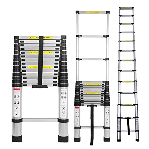 Telescoping Ladder 14.5ft Aluminum Telescopic Extension Ladder Extendable Ladders Collapsible Ladder Portable Lightweight Safety Lock Design Best for Household Daily or RV Work 330 Pound Capacity