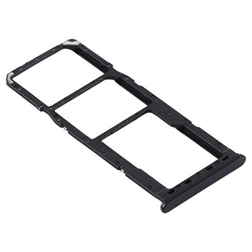 Carro bandeja bandeja para Samsung Galaxy A21S (A217F) SM-A217M/DS 6.5 porta tarjeta nano SIM 1+ SIM 2 + ranura ranura ranura ranura ranura para tarjeta micro SD (negro)
