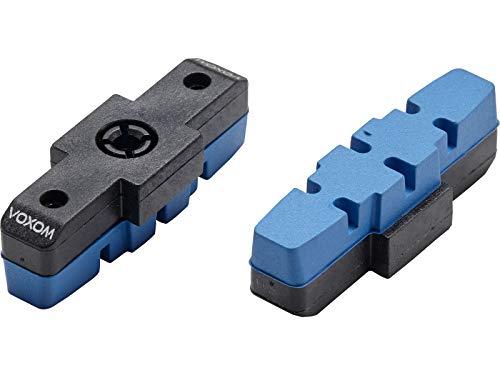 Voxom Patins de Frein VTT Brs21 Cartridge, Lot de 2, Magura Standard, Noir, 718000135
