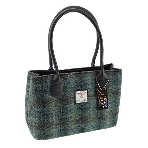 Damen Authentisch Schottische Harris Tweed Klassisch Handtasche in Zwei Farben Erhältlich LB1003 -...
