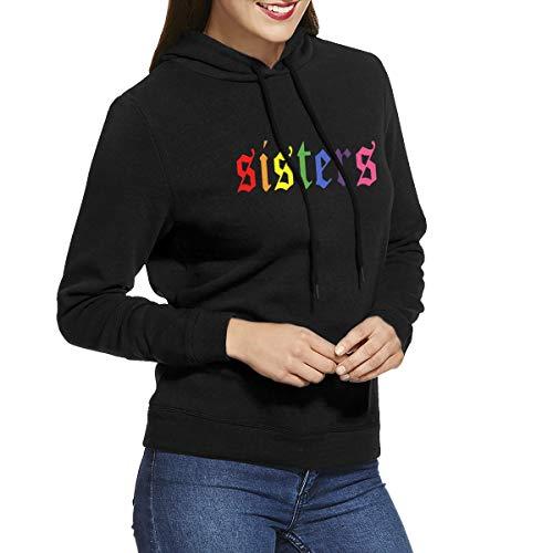 Women Novelty Hoodie James Charles Letters Printed Sweatshirts Graphic Hooded Sweatshirt Black XXL