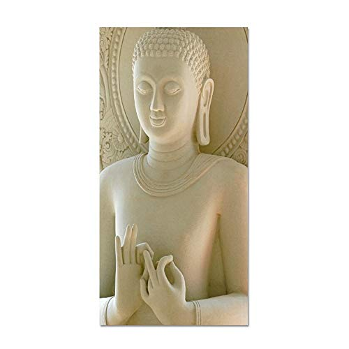 Modern Statue Canvas Painting Art Posters and Prints On Canvas Wall Art Abstract Buddha Picture for Living Room Home Decor (Color : PM827, Size : 50x100cm no Frame)