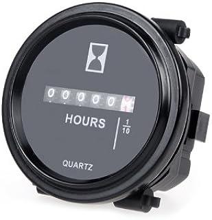 Sangmei Medidor de horas mecânico cronômetro cronômetro horímetro DC 8~80V 0~99999 9 CV#